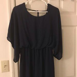 Dresses & Skirts - Dark blue open back dress